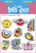 Fun Bible Mottos (6 Sheets, 54 Stickers) (Stickers Faith That Sticks Series)