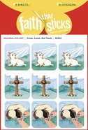 Cross, Lamb, and Tomb (6 Sheets, 54 Stickers) (Stickers Faith That Sticks Series)