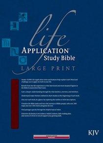 KJV Life Application Study Large Print Burgundy (Red Letter Edition)
