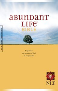 NLT Abundant Life Bible (Black Letter Edition)