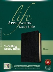 NLT Life Application Study Bible Black (Red Letter Edition)