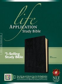 NLT Life Application Study Black Indexed (Red Letter Edition)