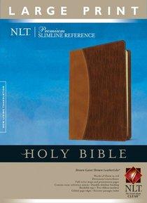 NLT Slimline Large Print Brown/Light Brown Gator (Red Letter Edition)