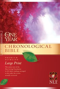 NLT One Year Chronological Large Print (Black Letter Edition)