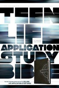 NLT Teen Life Application Study Bible Black Celtic Cross (Black Letter Edition)