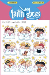 Angel Buddies (6 Sheets, 114 Stickers) (Stickers Faith That Sticks Series)
