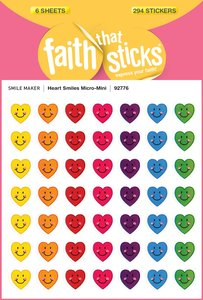 Heart Smiles Micro-Mini (6 Sheets, 294 Stickers) (Stickers Faith That Sticks Series)