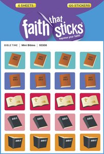 Mini Bibles (6 Sheets, 120 Stickers) (Stickers Faith That Sticks Series)