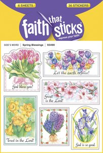 Spring Blessings (6 Sheets, 36 Stickers) (Stickers Faith That Sticks Series)