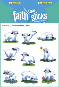 God Made Sheep (6 Sheets, 54 Stickers) (Stickers Faith That Sticks Series)