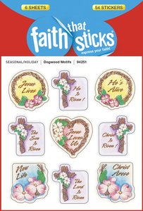 Dogwood Motifs (6 Sheets, 54 Stickers) (Stickers Faith That Sticks Series)