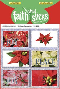 Holiday Poinsettias (6 Sheets, 36 Stickers) (Stickers Faith That Sticks Series)