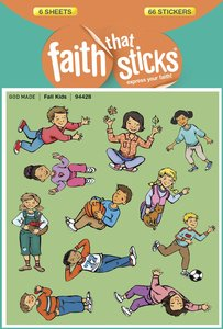Fall Kids (6 Sheets, 66 Stickers) (Stickers Faith That Sticks Series)