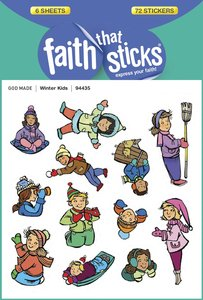 Winter Kids (6 Sheets, 72 Stickers) (Stickers Faith That Sticks Series)