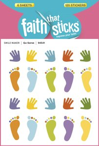 Go Serve (6 Sheets, 120 Stickers) (Stickers Faith That Sticks Series)