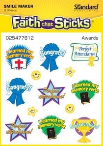 Awards (6 Sheets) (Stickers Faith That Sticks Series)