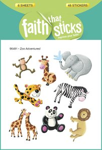 Zoo Adventures! (6 Sheets, 48 Stickers) (Stickers Faith That Sticks Series)