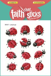 Ladybugs (6 Sheets, 72 Stickers) (Stickers Faith That Sticks Series)