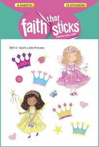 Gods Little Princess (6 Sheets, 72 Stickers) (Stickers Faith That Sticks Series)