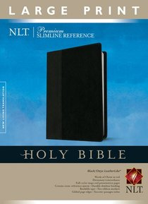 NLT Premium Slimline Reference Large Print Black/Onyx (Red Letter Edition)