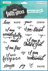Who I Am in Christ (2 Sheets, 40 Stickers) (Stickers Faith That Sticks Series)