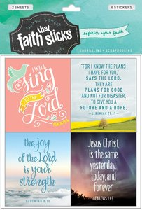 Jeremiah 29:11 (2 Sheets, 8 Stickers) (Stickers Faith That Sticks Series)
