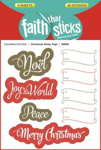 Christmas Sticky Tags (6 Sheets, 48 Stickers) (Stickers Faith That Sticks Series)