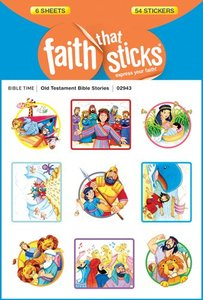 Old Testament Bible Stories (6 Sheets, 54 Stickers) (Stickers Faith That Sticks Series)