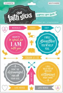 Isaiah 41:10 (2 Sheets, 40 Stickers) (Stickers Faith That Sticks Series)