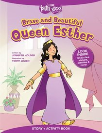 Brave and Beautiful Queen Esther (Incl. Stickers & Puzzles) (Faith That Sticks Story & Activity Book Series)