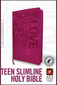 NLT Teen Slimline Bible 1 Corinthians 13 Thumb-Indexed (Red Letter Edition)