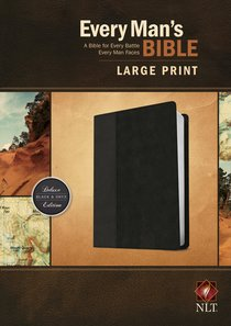 NLT Every Mans Bible Large Print Tutone (Black Letter Edition)