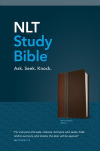 NLT Study Bible Brown/Slate Tutone (Red Letter Edition)