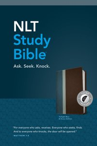 NLT Study Bible Indexed Twilight Blue Brown Tutone (Red Letter Edition)