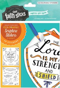 Psalm 28:7 (4 Sheets, 46 Colorable Stickers) (Stickers Faith That Sticks Series)
