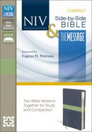 NIV Message Side-By-Side Bible Compact Midnight Blue/Moss
