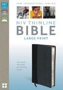 NIV Thinline Bible Large Print Black/Tan Black Letter Edition