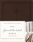 NIV Journal the Word Bible Brown Imitation Leather