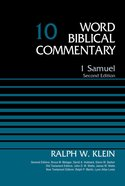 1 Samuel (Word Biblical Commentary Series)