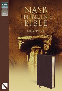NASB Updated Edition Thinline Large Print Burgundy (Red Letter Edition)