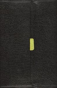NASB Updated Compact Reference Black Button Flap