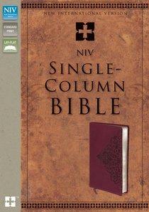 NIV Single-Column Bible Cranberry (Black Letter Edition)