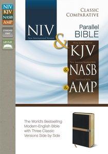 NIV & KJV Side-By-Side/Classic Comparative NASB & Amp Black/Camel