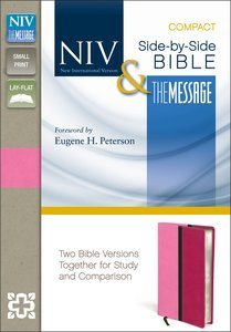 NIV Message Side-By-Side Bible Compact Pink/Hot Pink