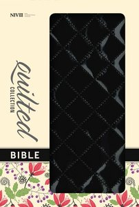 NIV Thinline Bible Quilted Blackberry (Red Letter Edition)