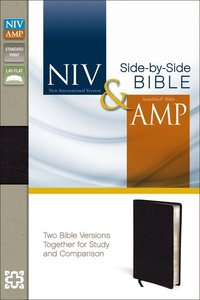 Niv/Amp Side-By-Side Bible Black (Black Letter Edition)