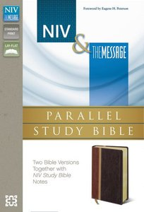 Niv/The Message Side-By-Side Study Personal Size Italian Duo-Tone Dark Brown/Brown