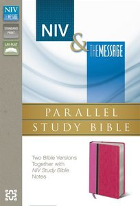 Niv/Msg Side-By-Side Study Personal Size Pink/Dark Pink (Black Letter Edition)