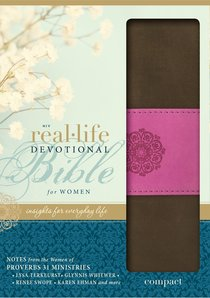 NIV Real-Life Devotional Compact Bible For Women Chocolate/Orchid (Black Letter Edition)