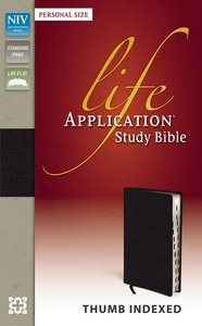NIV Life Application Study Bible Personal Size Indexed Black (Red Letter Edition)